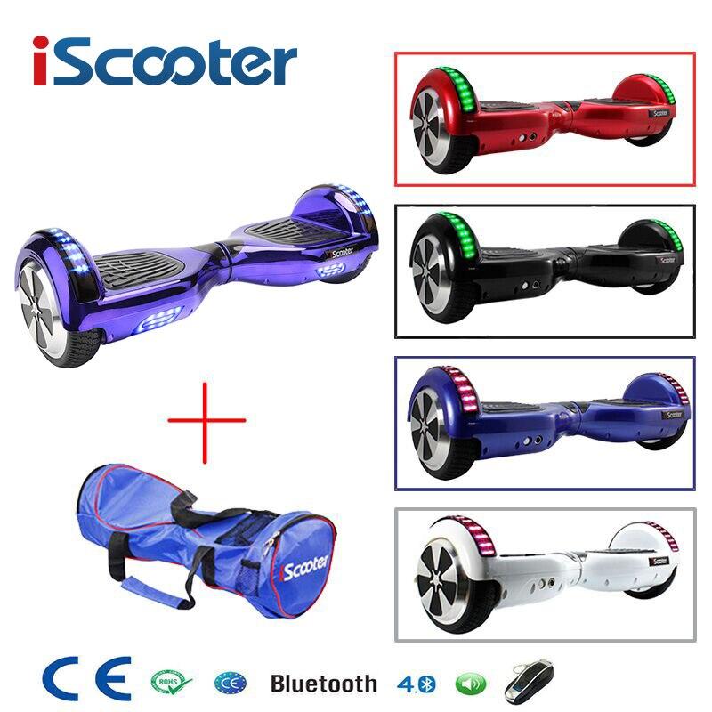 Iscooter hoverboard ul2272 bluetooth skate elétrico volante-roda inteligente 2 roda auto equilíbrio em pé scooter hover board