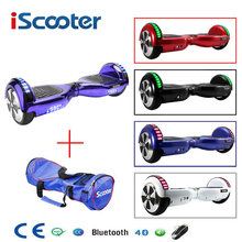 Iscooter Hoverboard UL2272 Listrik Bluetooth Skateboard Bike Smart 2 Wheel Diri Balance Standing Scooter Hover Board(China)