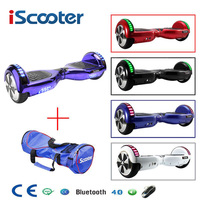 iScooter hoverboard UL2272 Bluetooth Electric Skateboard steering wheel Smart 2 wheel self Balance Standing scooter hover board