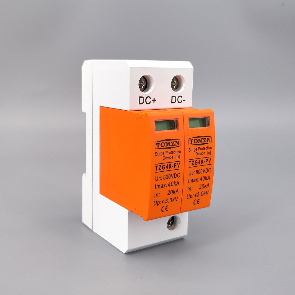 SPD DC 800V 20KA~40KA House Surge Protector Protective Low-voltage Arrester Device