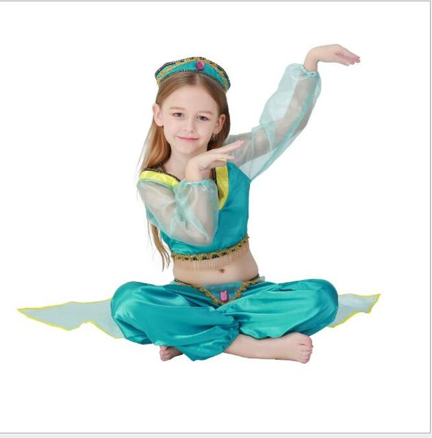 Walson Kwaii Girls Belly Dance Costumes Kids Indian Aladdin Princess