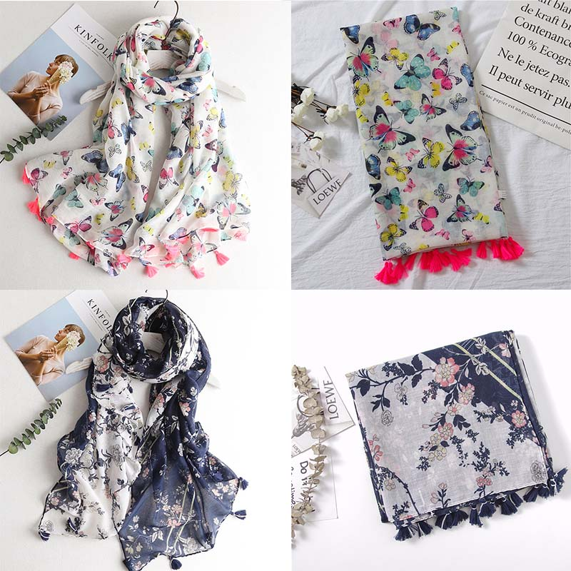 HTB1gFSjQNnaK1RjSZFtq6zC2VXat - VISROVER Fashion Summer Scarf For Women Scarf For Lady Viscose Shawl Tropical Print Scarf Head Luxury Brand Beach Scarves Hijab