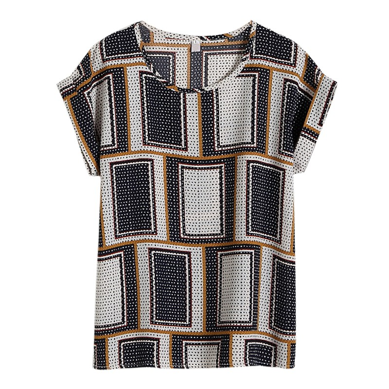 Hot Summer Women 39 s Casual Blouse Shirt Floral Chiffon Print O Neck Short Sleeve Lady 39 s Top Loose Blusas Plus Size L 4XL in Blouses amp Shirts from Women 39 s Clothing