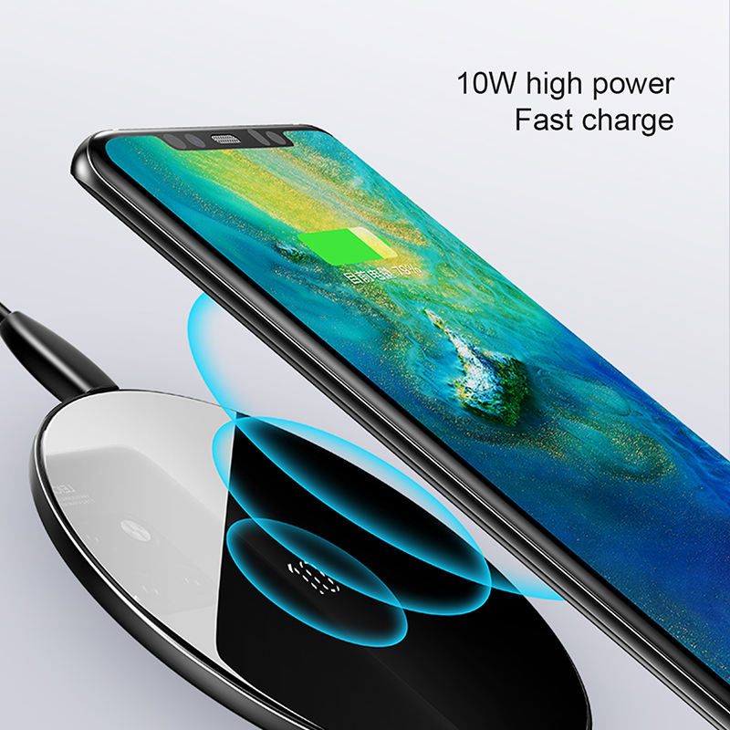 Baseus Special Design 10W Qi Wireless Charger For Huawei P30 P30 Pro Fast Wireless Charging Pad For Mate 20 Pro Samsung S10 S9 8