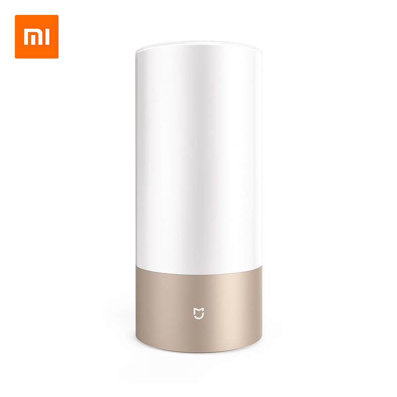 Original Xiaomi Mijia Smart Lights Indoor Bed Bedside Lamp 16 Million RGB Light Touch Control Bluetooth For Mijia Mi home APP original xiaomi mi yeelight e27 8w white led smart light bulb smartphone app wifi control 220v