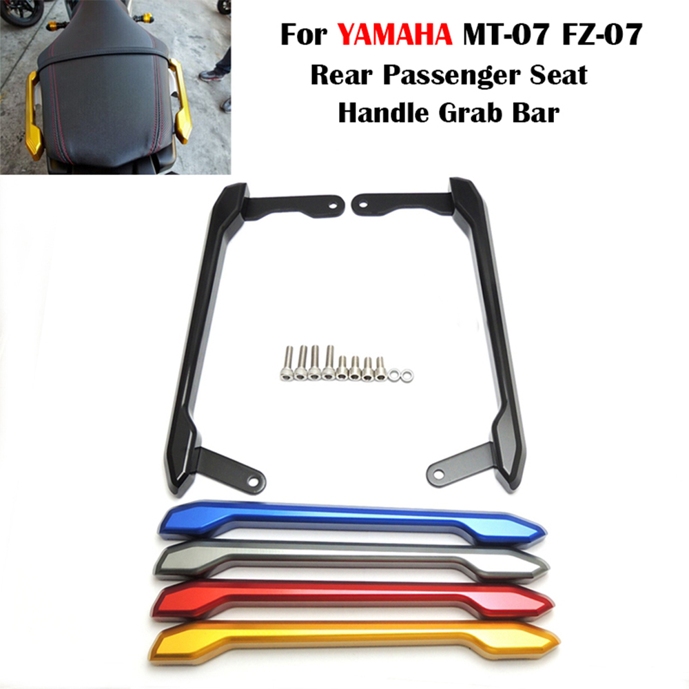 For Yamaha MT09 MT-09 FZ-09 FZ 09 MT 09 Rear Passenger Seat Hand Handle Grab Bar Rail 2014 2015 2016 Motorcycle Accessories aftermarket free shipping motorcycle parts rear passenger grab bar handle rail for suzuki gsxr1300 r hayabusa 1999 2007 chromed
