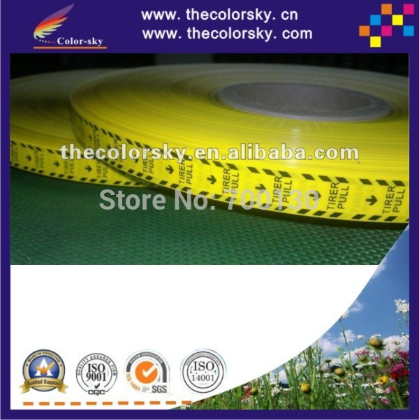 (ACC-roll label) yellow seal sealing tape label for ink inkjet cartridge 380m/roll 5000pcs/roll 16*15mm/pc waterproof seam sealing tape roll satellite self amalgamating rubber sealing tape sealing cable repair lead