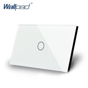 1 банда 1 способ US/AU стандартный Wallpad сенсорный выключатель сенсорный Переключатель ВКЛ/ВЫКЛ переключатель света белый кристалл стеклянная ...