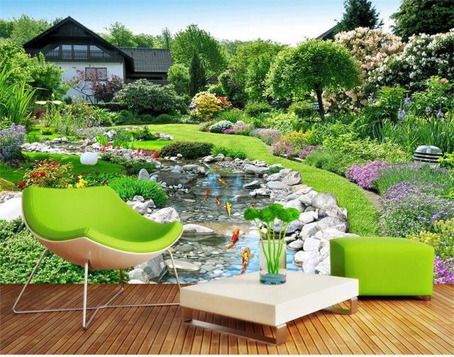 Custom Mural 3d Photo Wallpaper Room Wallpaper Japanese Garden Landscape 3d  Painting Sofa TV Background Wall
