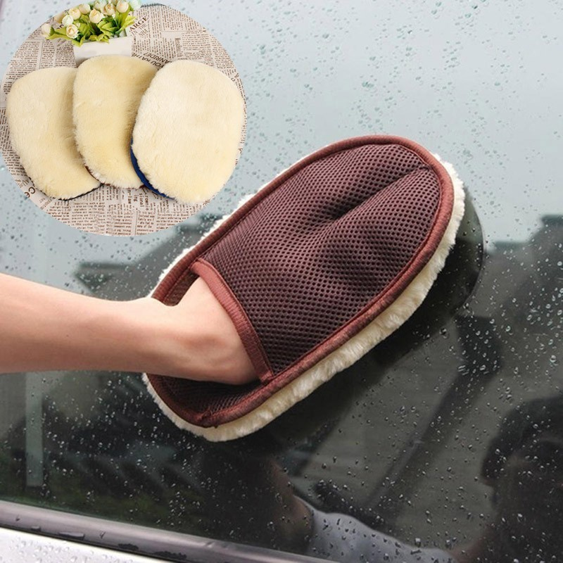 1 Piece Coffee Car Cleaning Glove Car Washing Acces