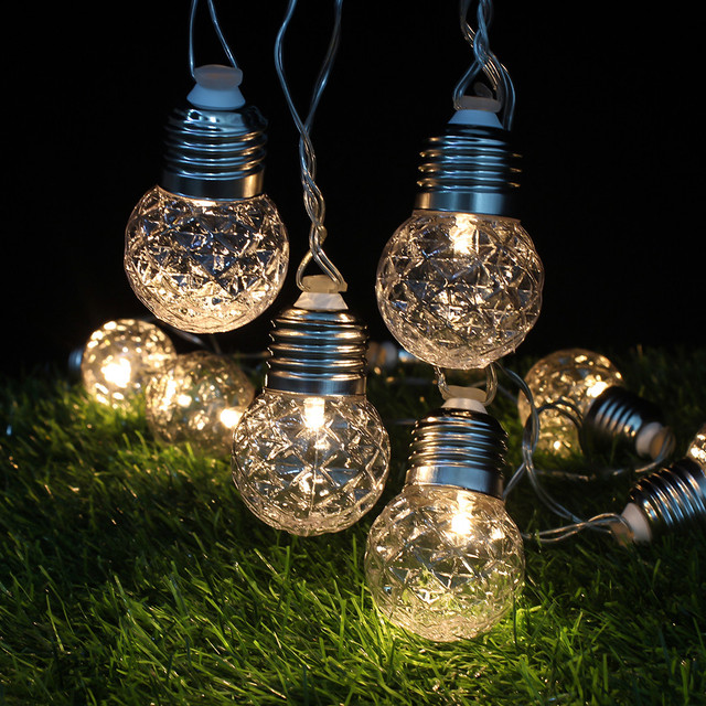 pineapple 20 string lights outdoor vintage bulbs globe patio garden party courtyard christmas decoration light string