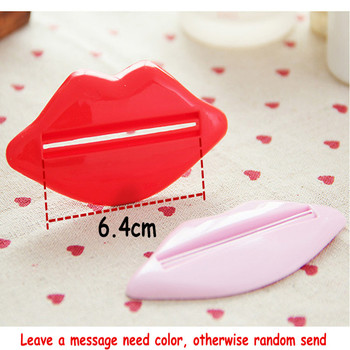 1 PCS Creative Lip Toothpaste squeeze multi-purpose extrusion device Toothpaste gels cream lotion squeezer #708 1