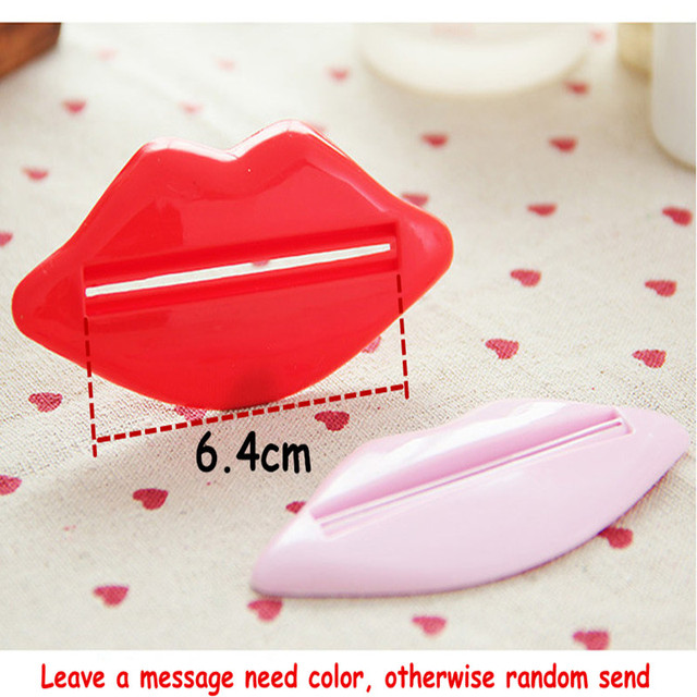 1 PCS Creative Lip Toothpaste squeeze multi-purpose extrusion device Toothpaste gels cream lotion squeezer #708 1