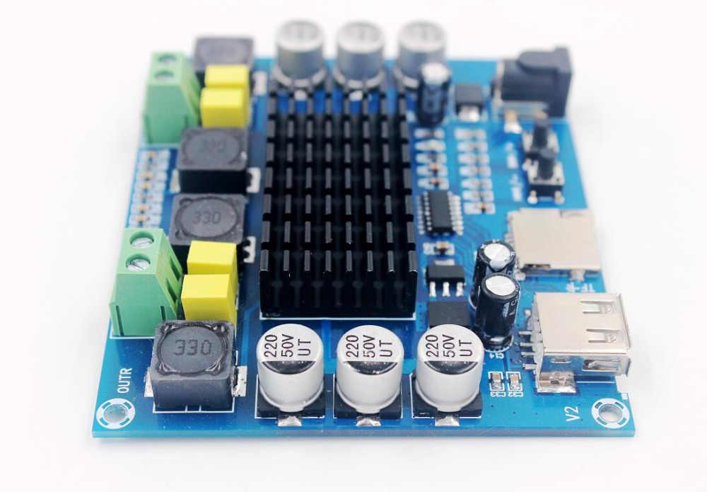DC 12V 24V 50W X2 TPA3116D2 цифровой усилитель плата USB TF карта декодирование плеер Двойные каналы стерео аудио усилитель