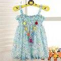 Meninas do bebê infantis vestidos boêmios da criança roupas das meninas para o verão crianças princesa flor tutu vestidos sem mangas legal dress