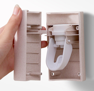 Image 3 - 自動歯磨き粉ディスペンサー浴室付属品プラスチック搾り出しウォールマウント歯磨き粉ホルダーチューブスクイーザ