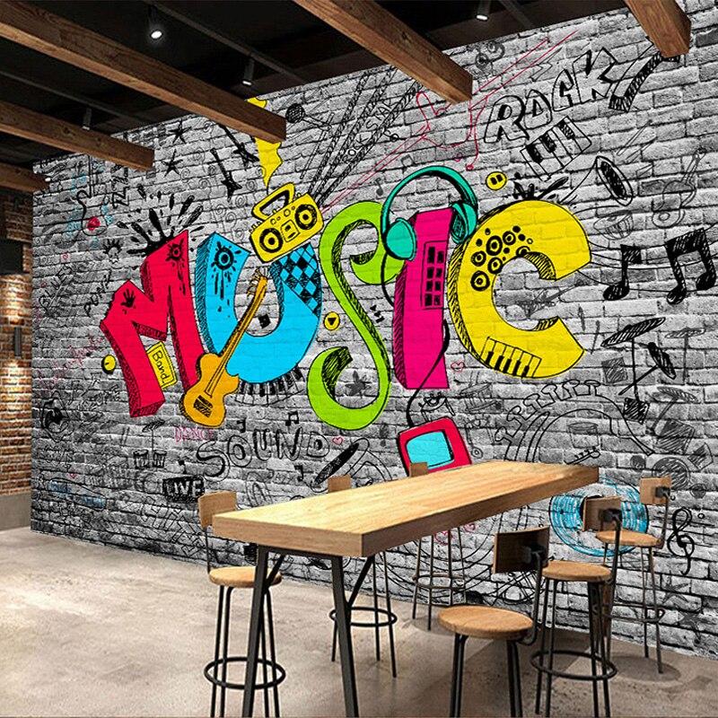 Personalized Customization Street Graffiti 3D Mural Wallpaper Restaurant Clubs KTV Bar Modern Decor Wallpaper Papel De Parede 3D