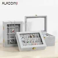Aladdin Hot Selling Jewelry Box Gift Necklace Ring Glasses Boxes Jewelry Accessories Packaging Display Case Wholesale