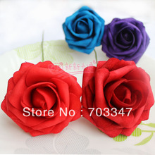 500pcs X (6cm) Single Foam Rose Flowers Stem in 12 Different Colors For Selection Wedding Flowers .* FREE SHIPPING BY EMS