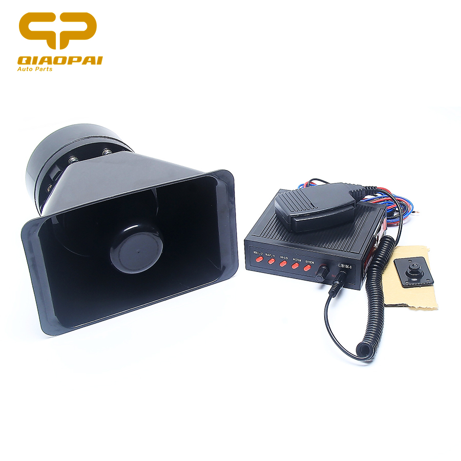 Superior quality 12V universal 5 tone sound alarm siren 150W high power loud car horn megaphone warning loudspeaker Ambulance