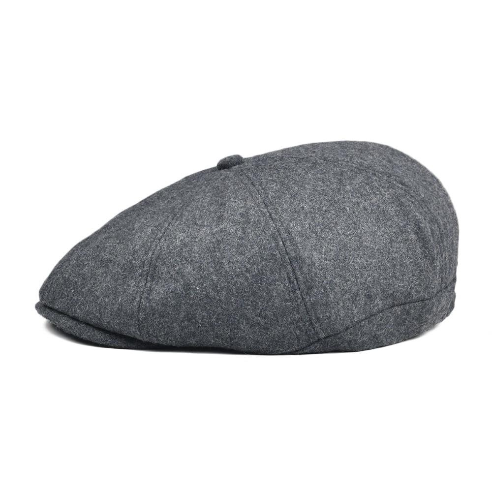 3b1a4a197 VOBOOM Women Men Tweed Woolen Newsboy Cap 8 Panel Country Baker Boy Ivy  Flat Cap Gray Black Beret Hats Cabbie Boina 111-in Newsboy Caps from Men's  ...