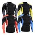 C3L Сжатия Рубашка для Мужчин ММА 3D Печать Длинные Рукава Бодибилдинг Тренировки Фитнес Топы