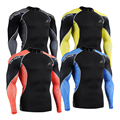 C3L Compression Shirt for Men MMA 3D Printing Long Sleeves Bodybuilding Workout Fitness Tops