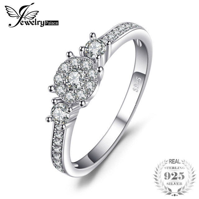 JewelryPalace Bridal Anniversary Ring 100% Pure 925 Sterling Silver Jewelry For