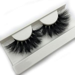 Image 5 - Mikiwi 25mm vison cílios postiços e07 tira grossa 25mm 3d vison cílios cruzamento maquiagem dramática longa 25mm vison cílios