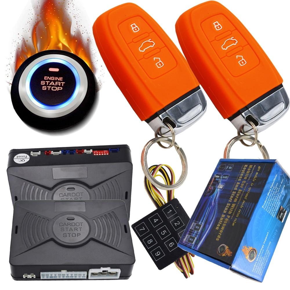 Système d'alarme de voiture passive avec fonction d'arrêt de démarrage à distance code de saut protection de clé intelligente avec sortie de dérivation pour les voitures à puce