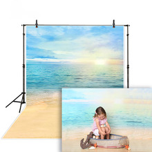 MEHOFOTO Photography Backdrops Summer Sky Sun Sea Ocean Beach Background Photo Studio Baby Shower Child Sailor Mermaid Photocall
