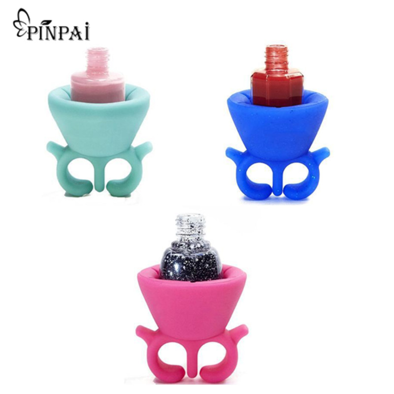1pcs Wearable Nail Polish Holder Silicone Finger Ring Drying Rack Organizer Art Tools Diy Oil Gel Manicure Stand On Aliexpress Alibaba Group