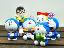 High Quality Japanese Anime Cartoon Doraemon PVC Action figures 6PCS/SET