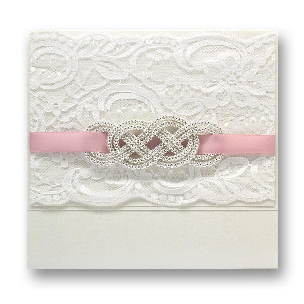 New Arrivel ~Elegant Handmade Lace Wedding Invitation With
