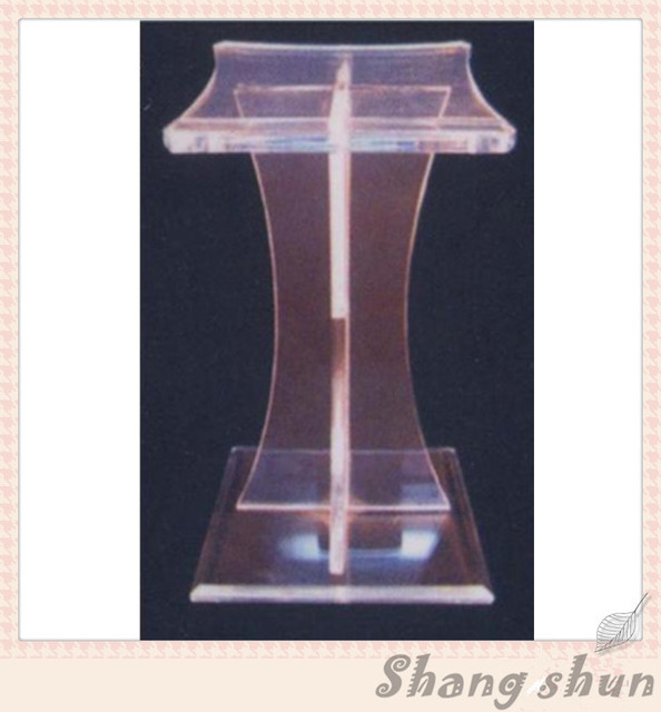 Clear modern acrylic perspex lectern podium church pulpit
