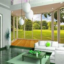 цена на Custom 3d photo wall paper Warm large mural visually expand wallpaper for living room 3d mural wallpaper for walls contact paper