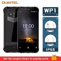 OUKITEL WP1 IP68 Waterproof Android 8.1 4GB 64GB Mobile Phone 5000mAh Octa Core 5.5Display 5000mAh Wireless Charging Smartphone