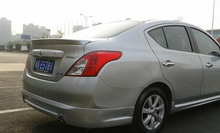 ABS Spoiler for NISSAN SUNNY 2011 2012 2013 2014  .Primer Unpainted