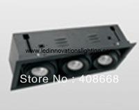 Бесплатная доставка IP20 27 Вт вырезами 374*124 мм Гражданин COB LED решетка Подпушка свет