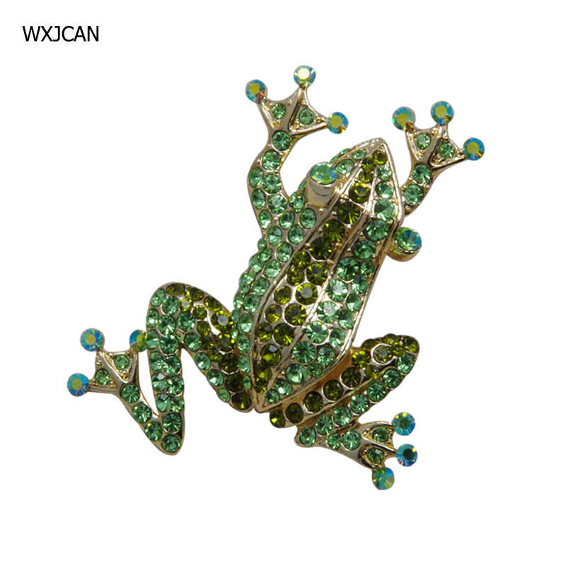 WXJCAN  5 Style frog broochMetal inlay full rhinestone brooch Hijab pin up brooches jewelry harajuku prendedores de mujer B5025