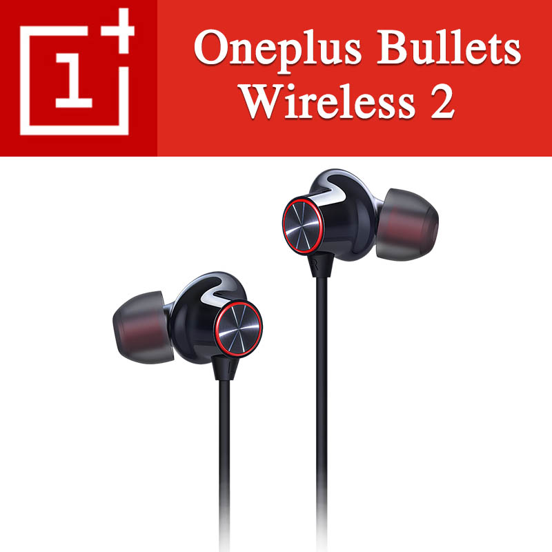 Official Oneplus Bullets Wireless 2 Bluetooth Earphone OnePlus  Bullets 2 For Oneplus 7 Pro Interface Warp flash Charge  functionEarphones
