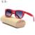 RTBOFY Skate de madeira óculos de sol das mulheres do desenhador de moda óculos polarizados óculos de sol de madeira feitos à mão pura. Oculos de sol RB-06