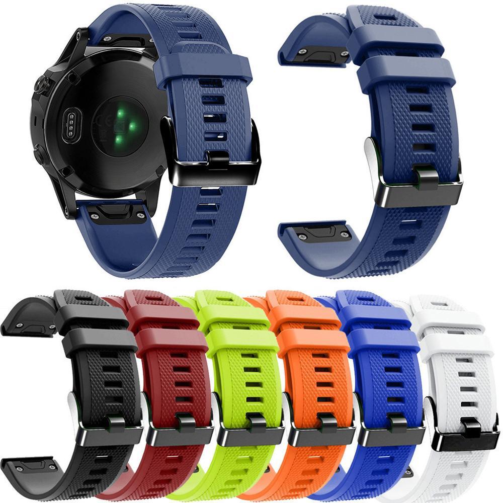 Luxury Replacement TPU Wristwatch On For Garmin Fenix 5X / 5X Plus / 3 / 3 HR Watch Strap Bands Smartwatch Buckle Wrist Band