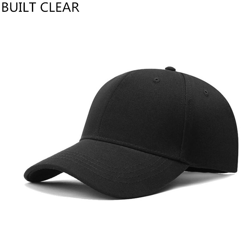 (BUILT CLEAR) dad hat new men's cotton black baseball cap snapback female casual golf adjustable pink hat cap men white hat 2017 fashion papi unstructured baseball dad hat cap new men women cotton adjustable baseball cap black