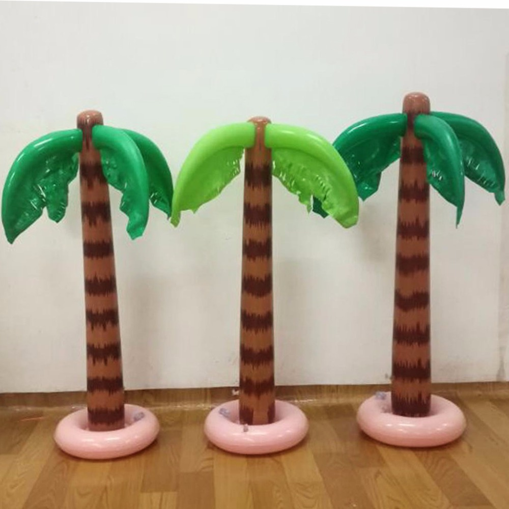 90cm Inflatable Tropical Palm Tree Pool Beach Party Decor Toy Outdoor Supplies tropical luau party picks 50ct