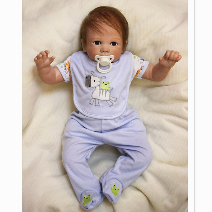 43 CM Reborn Babies Dolls Soft Vinyl Lifelike Newborn Baby Dolls f or Girls,17 Inch Baby Born Doll Brinquedo Baby Toys for Kids