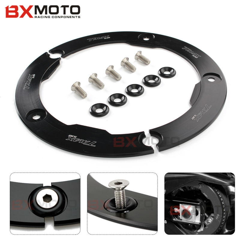 High Quality CNC Aluminum Motorcycle Transmission Belt Pulley Protective Cover For Yamaha T MAX 530 2012-2015