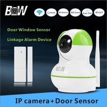 720 P Cámara IP WiFi Cámara de Vigilancia HD + Door Sensor Monitor de Alarma de Seguridad Inalámbrica Cámara de Visión Nocturna Onvif BW12GR