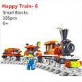 185 unids/set Feliz Tren Pequeñas Partículas de Bloques de Construcción de Juguetes Educativos Brinquedos Juguetes de Los Ladrillos