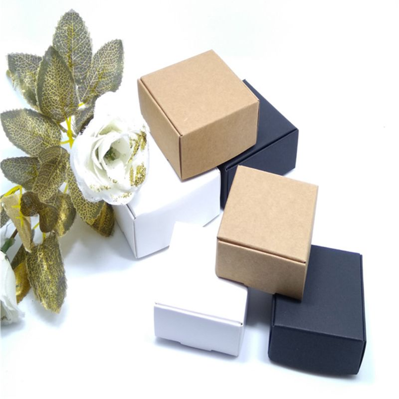 100pcs Kraft Paper Box Nice Packaging Small Size - Gift Bags & Paper Wedding Box Paper(China)